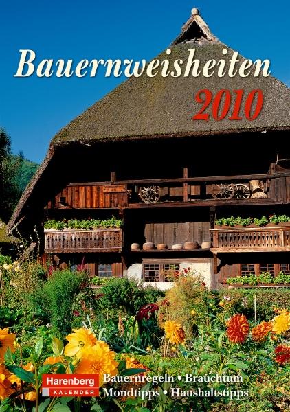 Harenberg Wochenkalender Bauernweisheiten 2010, Cover