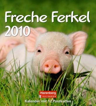 """Harenberg Lieblingspostkartenkalender """"Freche Ferkel 2010"""", Cover"""