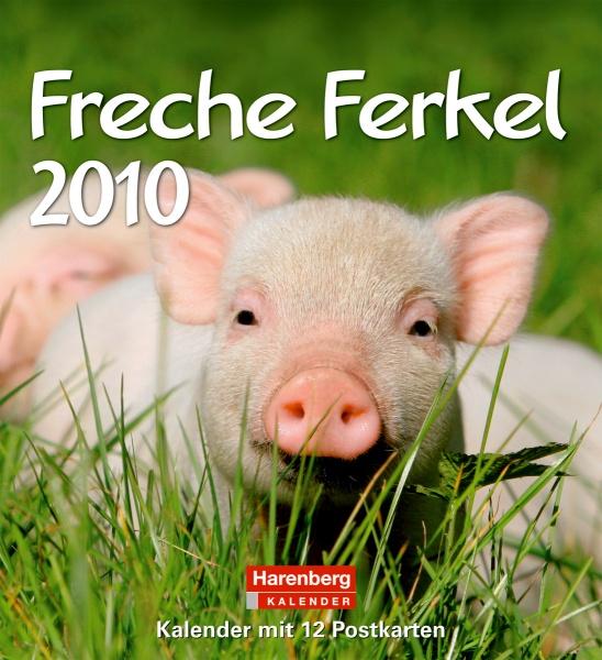 Harenberg Lieblingspostkarten-Kalender Freche Ferkel 2010, Cover